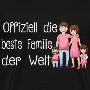 Familien Shirt beste Familie der Welt - Männer Premium T-Shirt