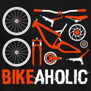 MTB - Mountainbike - Bicycle - Bike - BIKEAHOLIC - Männer Premium T-Shirt