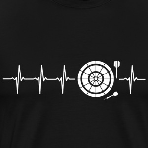 I love Darts (darts heartbeat) - Men's Premium T-Shirt