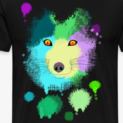 Fox-Splash - Männer Premium T-Shirt