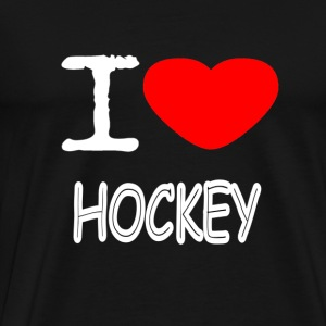I LOVE HOCKEY - Herre premium T-shirt