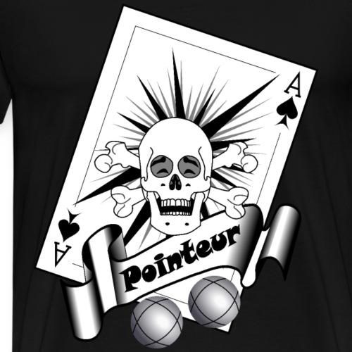 t shirt petanque pointeur crane rieur boules - T-shirt Premium Homme