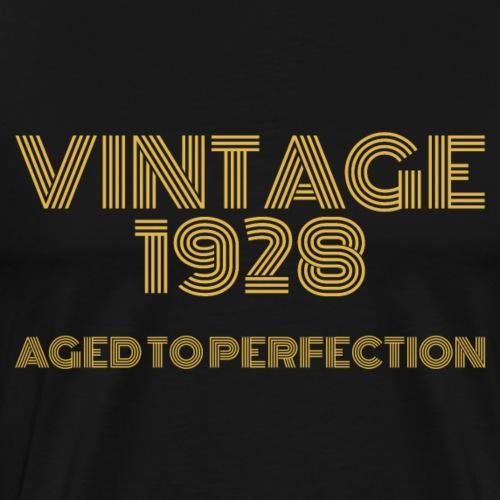 Vintage Pop Art 1928 Birthday. Aged to perfection. - Men's Premium T-Shirt