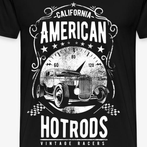 AMERICAN CALIFORNIA HOTRODS - Hotrod Shirt Motiv - Männer Premium T-Shirt