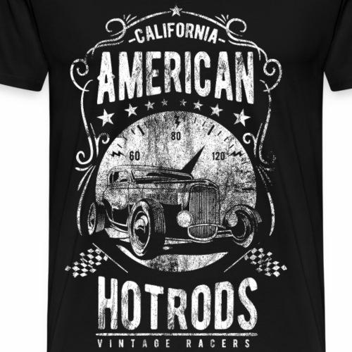 AMERICAN HOTRODS CALIFORNIA - Hotrod Shirt Motiv - Männer Premium T-Shirt