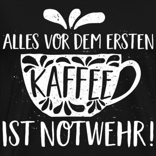 Kaffee alles Notwehr - Männer Premium T-Shirt