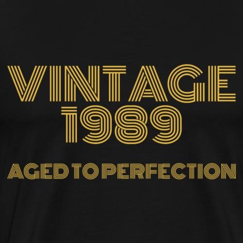 Vintage Pop Art 1989 Birthday. Aged to perfection. - Men's Premium T-Shirt
