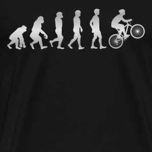 Det er bare evolution - MOUNTAIN - Herre premium T-shirt
