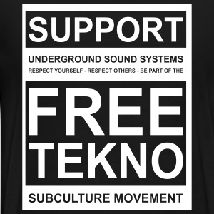 014 support free tekno - Men's Premium T-Shirt