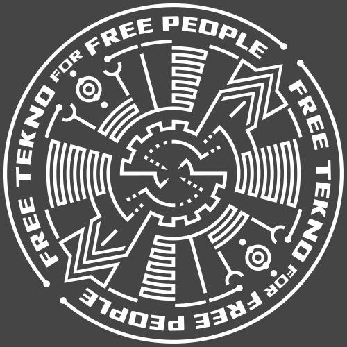 darmowe tekno dla wolnych ludzi - Koszulka męska Premium