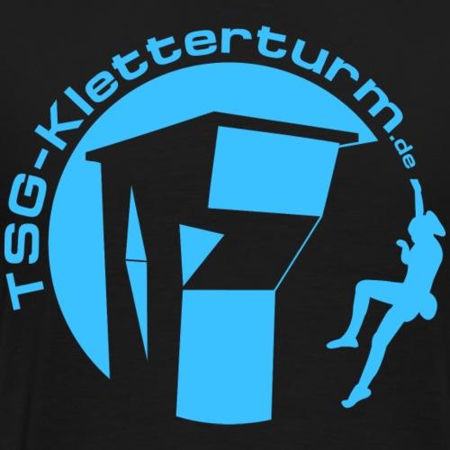Druck Blau - Männer Premium T-Shirt
