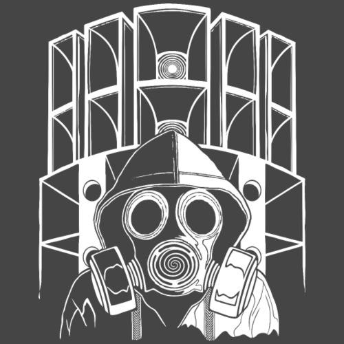 tekno 23 gasmasker - Mannen Premium T-shirt