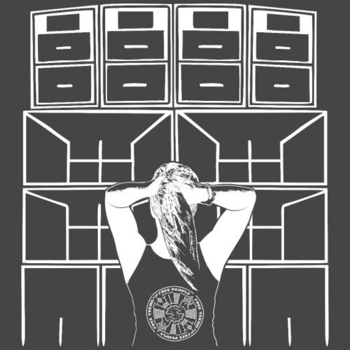 Tekno 23 Soundsystem Girl - Koszulka męska Premium
