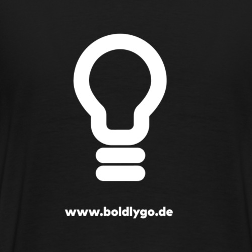 BOLDLY GO Light bulb white - Männer Premium T-Shirt