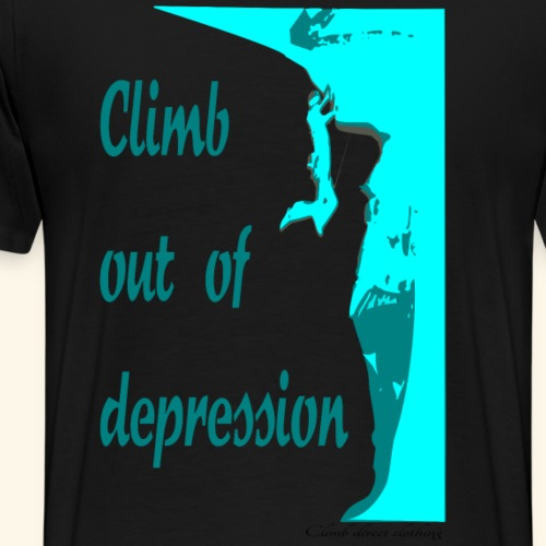 Climb out of depression - Men's Premium T-Shirt