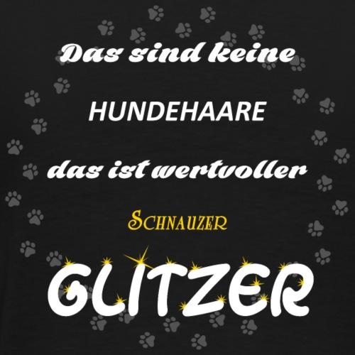 Schnauzer Glitzer JD11 - Männer Premium T-Shirt