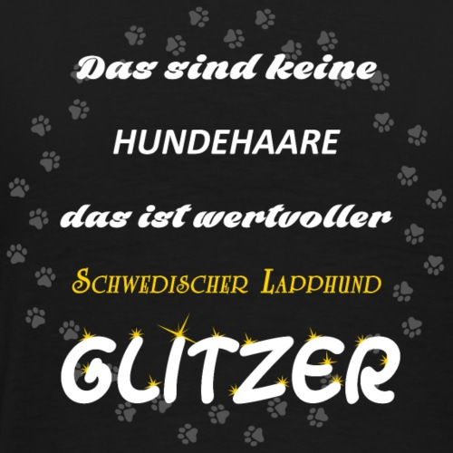 Schwedischer Lapphund Glitzer FiRSN - Männer Premium T-Shirt