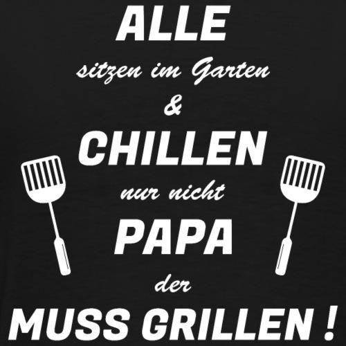 Grillen Papa | fyO7 | BP | W - Männer Premium T-Shirt