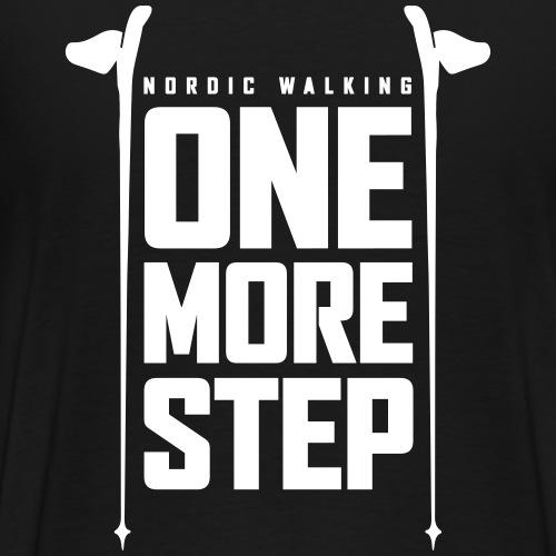 Nordic Walking - One more step - Miesten premium t-paita