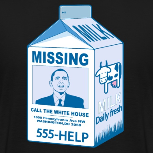 Missing Barack Obama - T-shirt Premium Homme