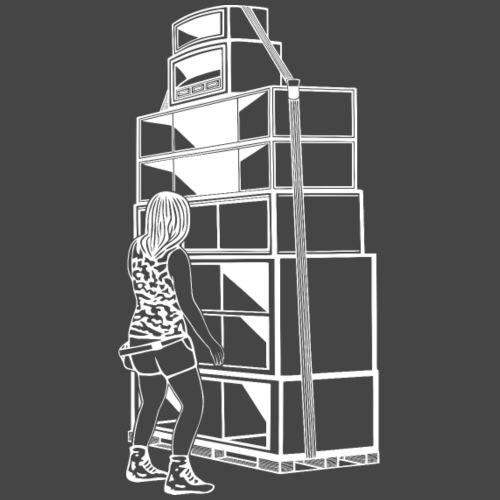 soundsystem tekno 23 chica - Camiseta premium hombre
