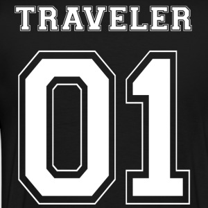 TRAVELER 01 - White Edition - Mannen Premium T-shirt