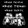 Free people - Free tekno - Free party - Männer Premium T-Shirt