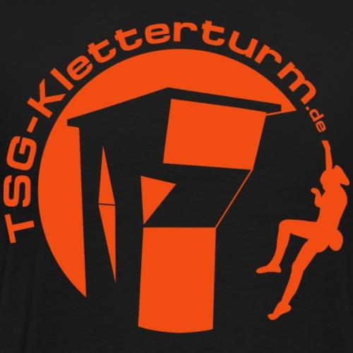 Druck Orange - Männer Premium T-Shirt