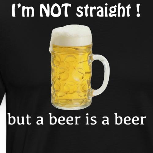 Not straight beer - Men's Premium T-Shirt