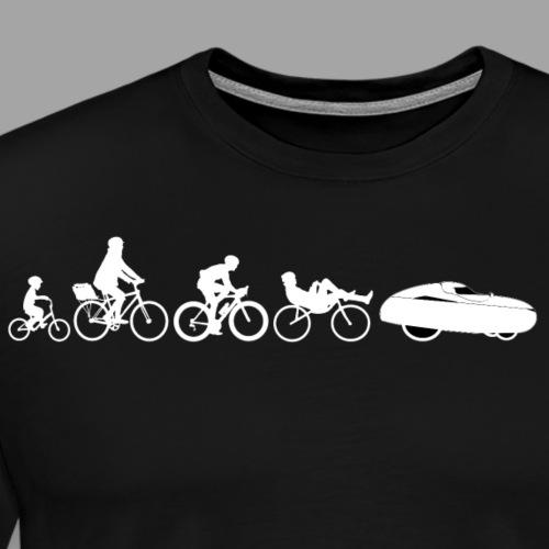 Bicycle evolution white - Miesten premium t-paita