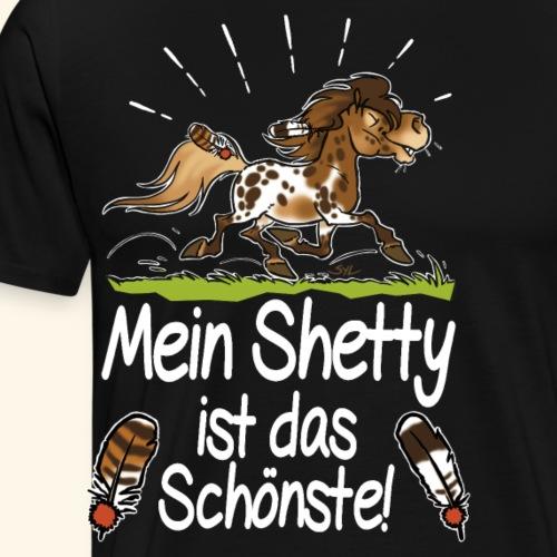 Mein Shetty das Schönste (Text weiss) - T-shirt Premium Homme