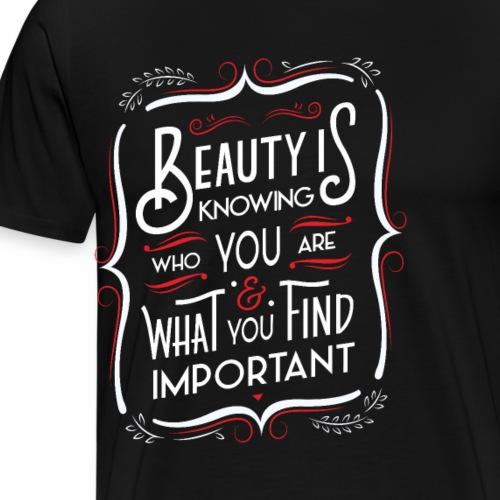 La beauté c'est de savoir (Rouge) - Men's Premium T-Shirt