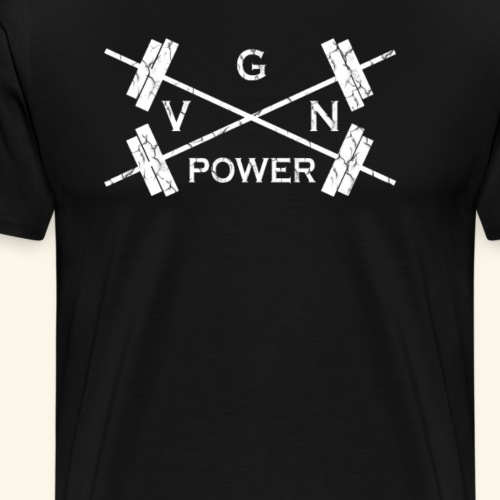 VGN Power Vegane Power Shirt für Fitness Workout - Männer Premium T-Shirt