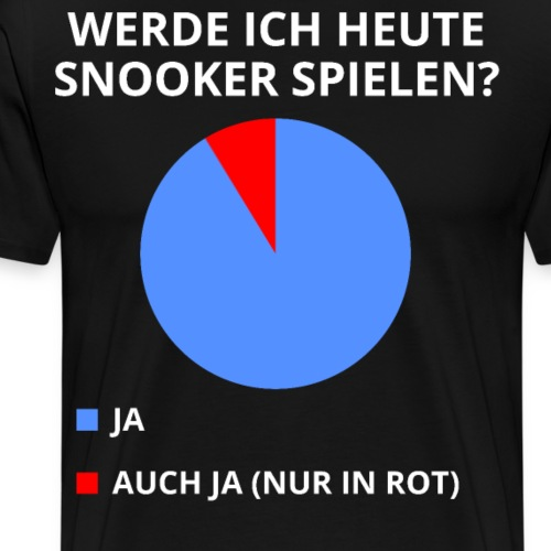 lusitger Snooker Spruch - Männer Premium T-Shirt