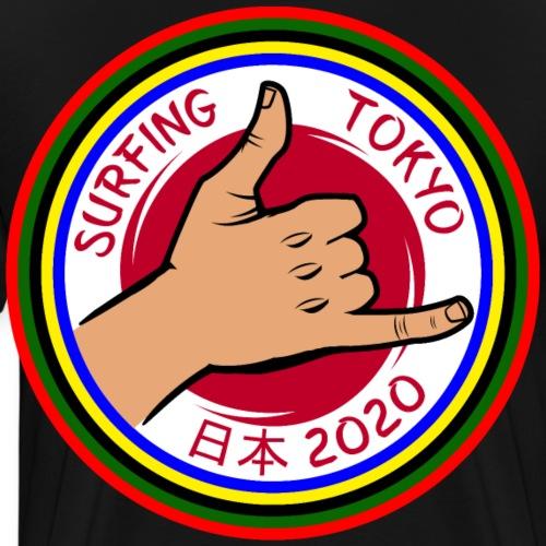 Surfing Tokyo Japan 2020 - Premium-T-shirt herr