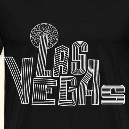 Lustiges Las Vegas Retro Typografie Geschenk - Männer Premium T-Shirt