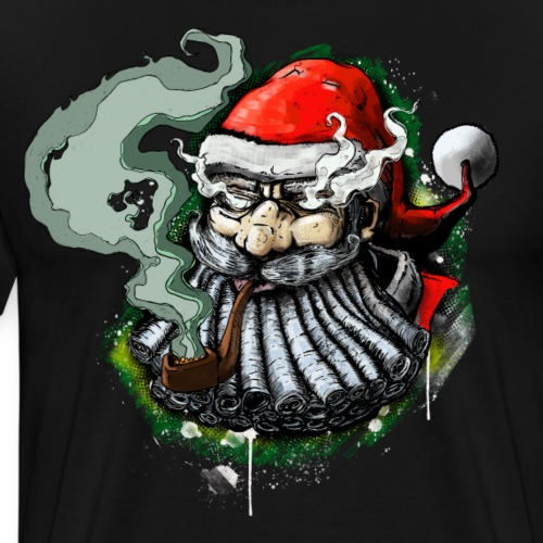 Santa SMOKED - Men's Premium T-Shirt