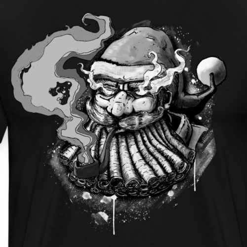 Santa SMOKED B / W - Men's Premium T-Shirt