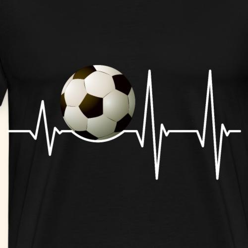 Herzschlag Fußball Spieler und Sportfan Geschenk - Männer Premium T-Shirt