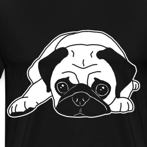 Mops, Hund, Hunderasse, Geschenkidee, süß, Comic - Männer Premium T-Shirt