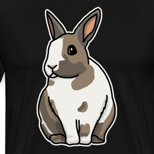 Hase, Kaninchen, Zwergkaninchen, Comic, süß - Männer Premium T-Shirt