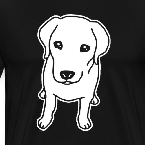 Labrador Retriever, Hund, Comic - Männer Premium T-Shirt
