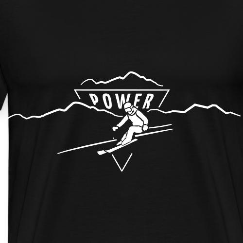 SKI ALPIN POWER - Männer Premium T-Shirt