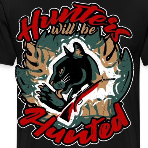Hunters will be hunted - Für Tierschutz - Männer Premium T-Shirt