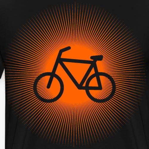 Fahrrad in Sonne Symbol   Fahrrad Design - Männer Premium T-Shirt
