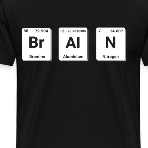 BrAiN Shirt für Physiker Chemiker Periodensystem - Männer Premium T-Shirt