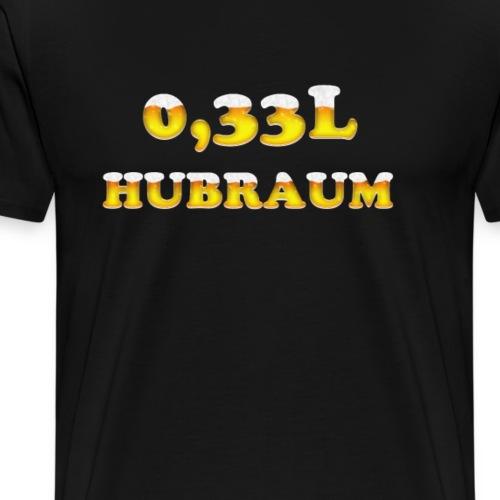 0,33L Hubraum Lustiges Biertrinker Shirt - Männer Premium T-Shirt