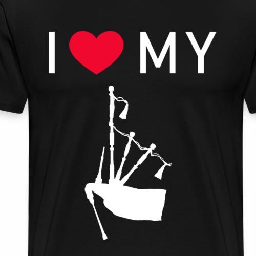 I Love My Bagpipe - Ich liebe meinen Dudelsack - Männer Premium T-Shirt