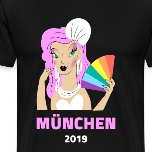 München 2019 Lgbt Gay Lesben Transgender Bi Schwul - Männer Premium T-Shirt