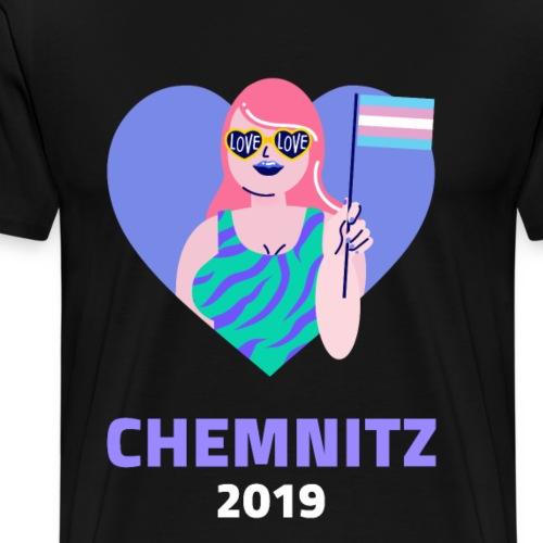 Chemnitz LGBT GLBT Lesben Transgender Bi Schwul - Männer Premium T-Shirt